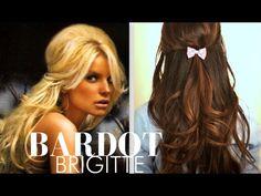 Brigitte Bardot hair tutorial   Half-up updo hairstyles   glam ...
