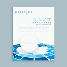 Plantilla de folleto con formas redondas Vector Gratis