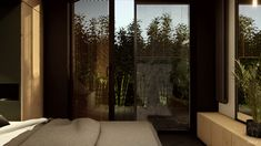 #bedroomdesign #wooden #minimalisthome #minimalism #plantsinhome #minimalistinterior #moderninteriors #blackandwhiteinterior #plants #interiordesign #architekturawnetrz #design #eclectic #cozy #cosy #harmony #pracowniasttyk #sttyk #estetyka Blinds, Divider, Curtains, Room, Furniture, Home Decor, Bedroom, Decoration Home, Room Decor