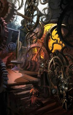 Amazing clockwork steampunk building