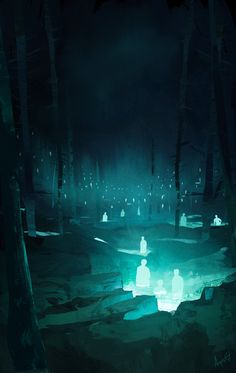 Ilustração - Thrilling Illustrations by Florian Aupetit Fantasy Places, Fantasy World, Dark Fantasy, Environment Concept Art, Environment Design, Fantasy Landscape, Landscape Art, Fantasy Kunst, Anime Scenery