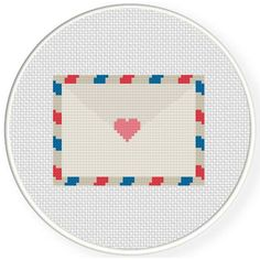 Free Cross Stitch Chart for April 22nd 2017 Only - Love Letter Mail http://www.DailyCrossStitch.com/ ** Be Sure To Join Our Mailing List Below and Get a Reminder When New Free Charts Are Available Click HERE to Signup: http://dailycrossstitch.com/optin/ #DMC #Threads #crossStitch #etamin #embroidery #fabric #decorate #pattern #ornament