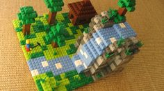 LEGO Minecraft - After he builds the kit it could become decoration for the room