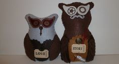 Love story owls custom message in a bottle bottle by DarkPicketFence, $30.00