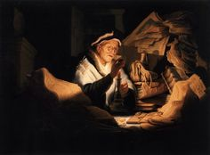 Rembrandt van Rijn, The Rich Man from the Parable. 1627 Oil