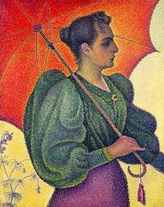 Paul Signac - woman with a parasol (1893)
