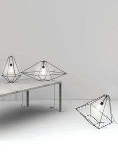 Three-dimensional lights designed by Sara Bernardi for CON.TRATITION
