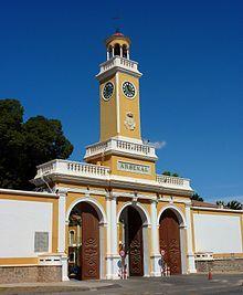 Cartagena (España): Puerta del Arsenal Militar.