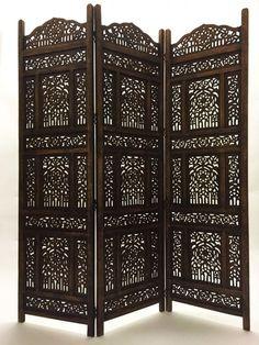 Orient Orientalischer Indische Holz Paravent Raumteiler Trennwand spanische wand in Möbel & Wohnen, Dekoration, Paravents | eBay