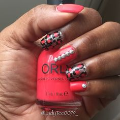 Matte Nails with Animal Print