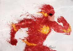 We've seen Melissa Smith do superhero splatter art before, but she stuck to all Marvel characters. Now she's moved into a new universe, and has come out Wally West, Flash Art, Comic Books Art, Comic Art, Book Art, Dc Icons, Splatter Art, Speed Art, Popular Art