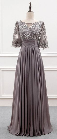Gray short sleeve mother of groom dresses for the wedding are available. Custom evening gowns as well as #replicas of couture designs are also an option. We can work from any photo you have. Get pricing on custom #eveningdresses & replicas when you email us directly. #bridesmaidgowns
