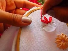 This Hand embroidery ribbon heart design for decoration ideas. Ribbon Embroidery Tutorial, Diy Embroidery, Embroidery Patterns, Cross Stitch Embroidery, Stitch Patterns, Yarn Crafts, Sewing Crafts, Ribbon Work, Patch Quilt