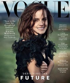 Emma Watson Photographed by Peter Lindbergh, styled by Hannes Hetta, Vogue Australia, March 2018.
