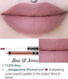 Love this color! Kat Von D liquid lipstick bow & arrow❤️