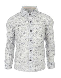 My Design Boris Badger Print Shirt | Grey | Monsoon