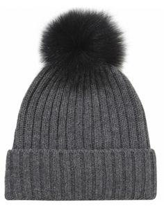 Helene Berman Fur Pom Pom Beanie Hat