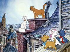 Who could forget about the lovely Aristocats film? Disney Pixar, Walt Disney, Disney Animation, Disney Cartoons, Disney Art, Aristocats Movie, Marie Aristocats, Beau Film, Cartoon Cartoon