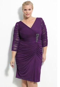 Dark Peach Plus Size Bridesmaid Dresses Mother Of Bride