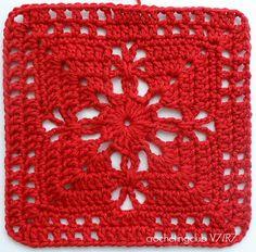 Right & Left hand Crochet Squares Afghan, Crochet Motifs, Crochet Blocks, Granny Square Crochet Pattern, Crochet Diagram, Thread Crochet, Crochet Granny, Crochet Blanket Patterns, Crochet Doilies
