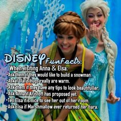Things to ask Anna & Elsa
