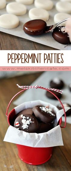 Homemade peppermint patties. Adorable, delicious, and so much better than store-bought.