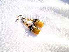 Peridot Jade Earrings from juta ehted - my jewelry shop by DaWanda.com