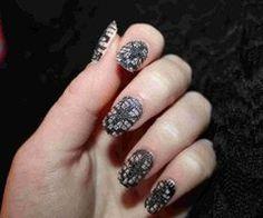 Lace Nail Art ❤ - YouTube