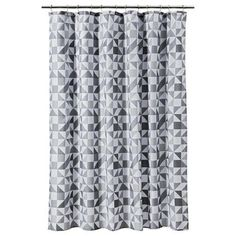 SHOWER CURTAIN RE TRIANGLE GRAY #RoomEssentials