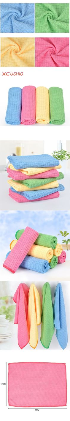 4pcs/lot Microfiber Grid Kitchen Dishcloth Soft Absorbent Cleaning Cloth Multifunctional Household Cleaning Rags....   we supply
