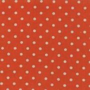 """Linen Mochi Dot (Tangerine) 70% cotton/30% linen, lightweight canvas, 44/45"""" wide"""
