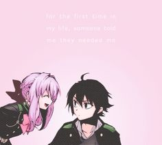 Shinoa and Yuu (Yuichiro Hyakuya) Seraph of the End | Owari no Seraph #anime