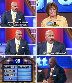 """19 Times """"Family Feud"""" Contestants Spoke The Damn Truth And Steve Harvey was in awe of their genius."""
