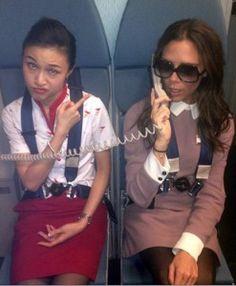 Designer Victoria Beckham Turns Air Stewardess