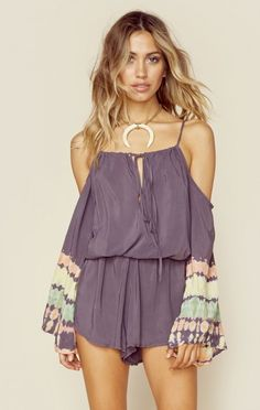 Blue Life Clothing Jumpsuits And Rompers Open Shoulder Romper