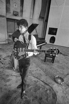 George in the studio