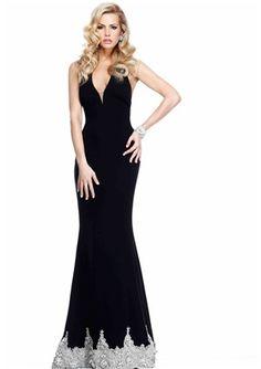Shining Sheath / Column V-neck Floor-length 2014 New Style Prom Dress