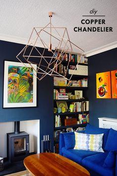 DIY Copper Chandelier