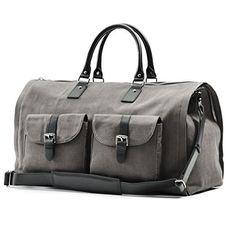 Hook and Albert Grey Waxed Canvas Garment Weekender Bag H... https://smile.amazon.com/dp/B00UTY7CL2/ref=cm_sw_r_pi_dp_x_isXpybX27PHFX
