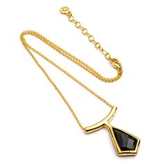 Bohemian Fairtrade Jewellery by Azuni London. #halloween #necklace #gemstone #black #etrusca #gold  www.azuni.com