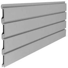 Suncast Trends Garage Storage Slat Wall W x D x H Section Gray - March 16 2019 at Metal Roof Panels, Shed Floor Plans, House Plans, Loafing Shed, Shed Interior, Garage Furniture, Garage Storage Systems, Pergola Attached To House, Slat Wall