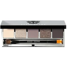 Bobbi Brown  Eye Palette ($49) ❤ liked on Polyvore featuring beauty products, makeup, eye makeup, eyeshadow, beauty, eye shadow, eyes, rich caramel, silver sparkle eyeshadow ve matte eye shadow