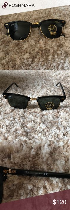 04f76126559 Ray Ban Clubmaster black and gold sunglasses Ray Ban classic clubmaster  sunglasses. Black and gold