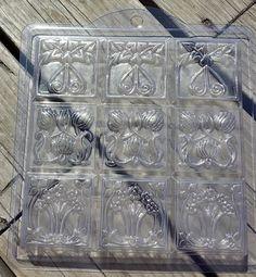 Nouveau Flowers Tray Soap Mold