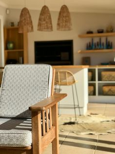 Repurposed chair in African inspired makeover 2