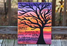 Family Quote Painting // Tree Canvas // Family like by KTsCanvases