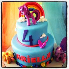 My little pony birthday party -  Twilight Sparkle, Apple Jack & Pinkie Pie with Rainbow Cake