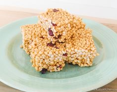 Get Your Snack On with Puffed Millet Squares. Substitute maple syrup for honey to make low fodmap.