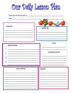 Preschool Lesson Plan Template Printable for Child Care | Crayons ...
