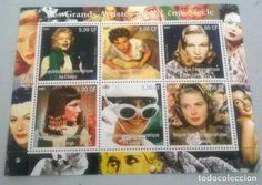 MARILYN MONROE and Famous Movie Stars on SOUVENIR STAMP